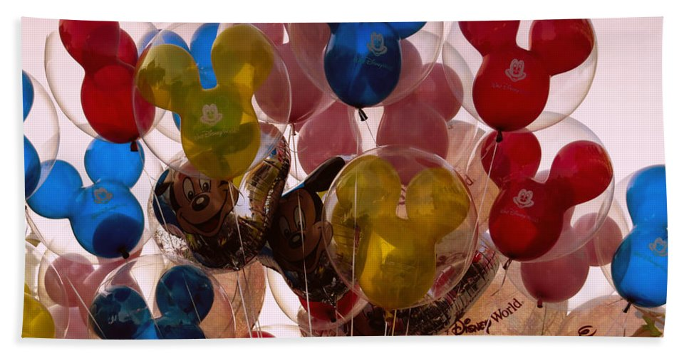 Balloons Beach Towel featuring the photograph Balloons by Zina Stromberg