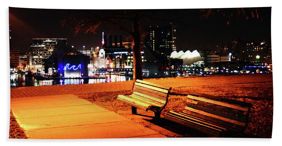 Baltimore Beach Towel featuring the photograph Baltimore City by La Dolce Vita