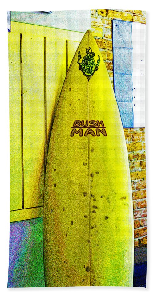Action Beach Towel featuring the photograph Banana Board by Holly Blunkall