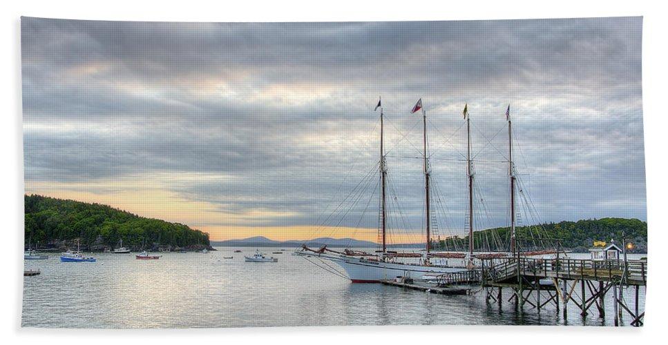 Bar Harbor Beach Towel featuring the photograph Bar Harbor Sunrise by Donna Doherty