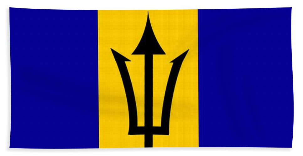Barbados Beach Towel featuring the digital art Barbados Flag by Frederick Holiday
