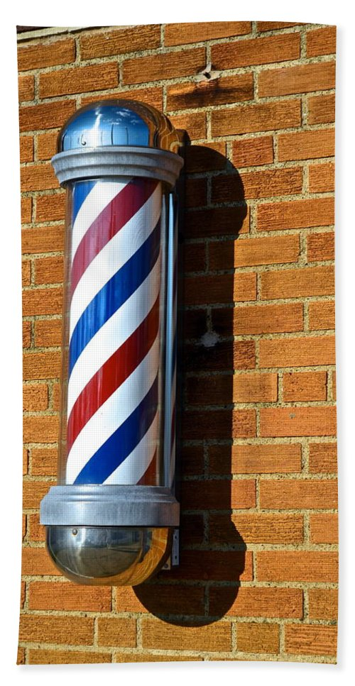 Barber Beach Towel featuring the photograph Barber Shop by Frozen in Time Fine Art Photography