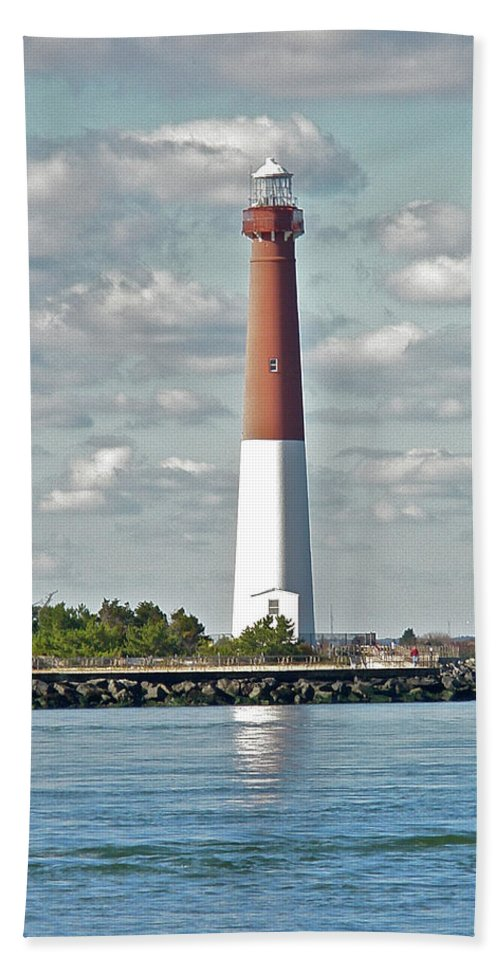 Lighthouse Beach Towel featuring the photograph Barngat Lighthouse - Long Beach Island Nj by Mother Nature