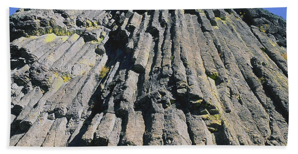 Basalt Columns Beach Towel featuring the photograph M-a5607-basalt Columns On Pilot Rock by Ed Cooper Photography