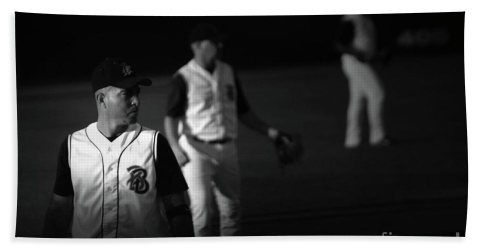 Baseball Beach Towel featuring the photograph Baseball Days by Karol Livote