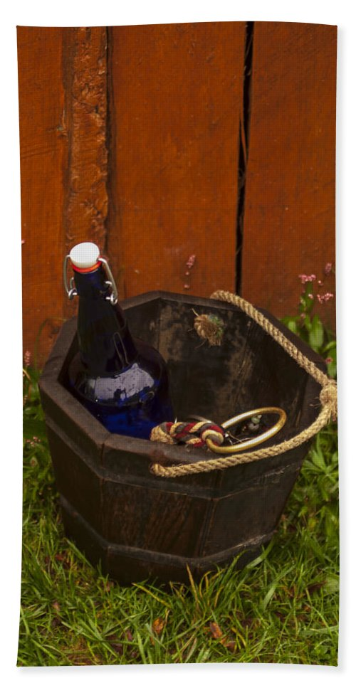 Pail Beach Towel featuring the photograph Basket Of Goodies by Pablo Rosales
