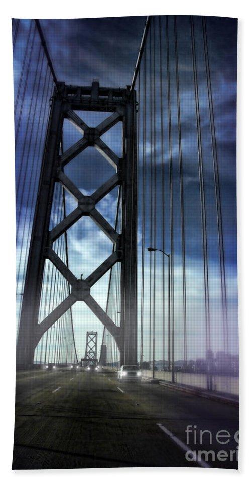 Bay Bridge Beach Towel featuring the photograph Bay Bridge by Jill Battaglia