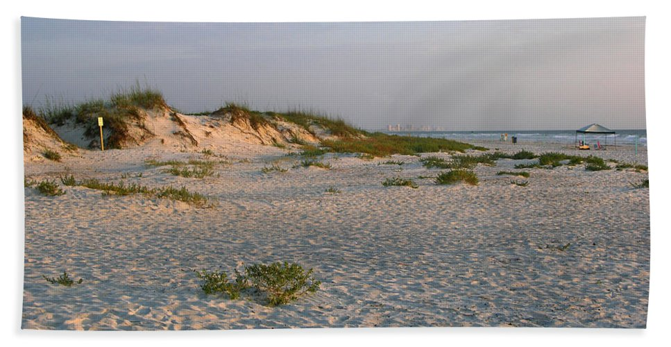 Photos Of Florida Beaches Beach Towel featuring the photograph Beach At Sunrise by Julianne Felton