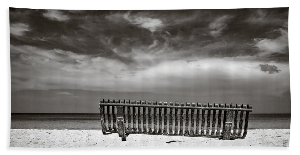Jamaica Beach Towel featuring the photograph Beach Bench by Dave Bowman