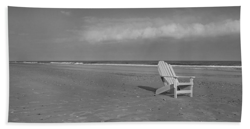 Adirondack Beach Towel featuring the photograph Beach Chair by Betsy Knapp