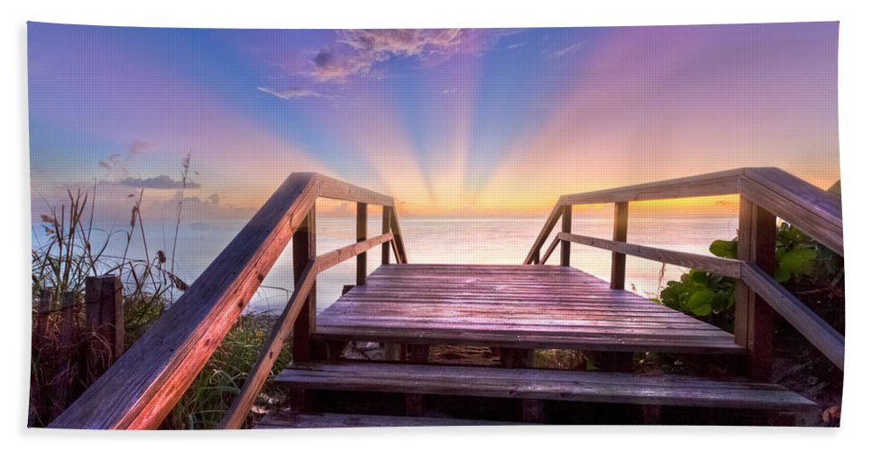 Blowing Beach Towel featuring the photograph Beach Dreams by Debra and Dave Vanderlaan