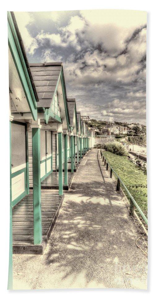 Langland Bay Beach Huts Beach Towel featuring the photograph Beach Huts 2 by Steve Purnell