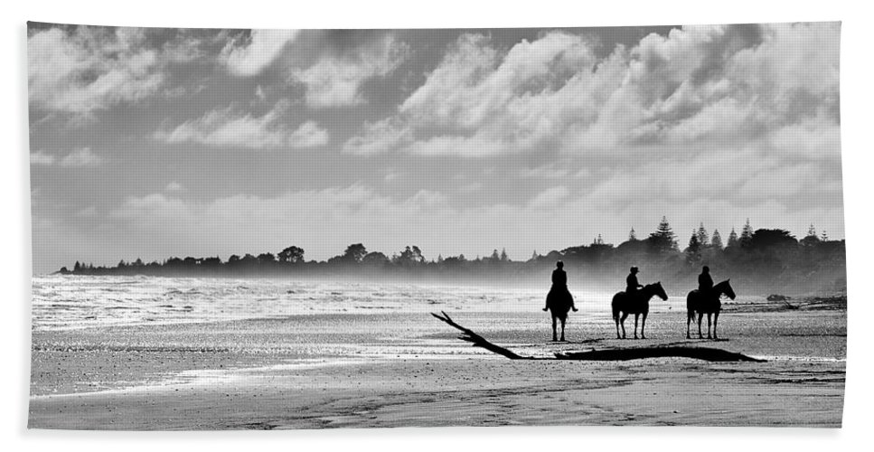 Ride Beach Towel featuring the photograph Beach Riders by Dave Bowman