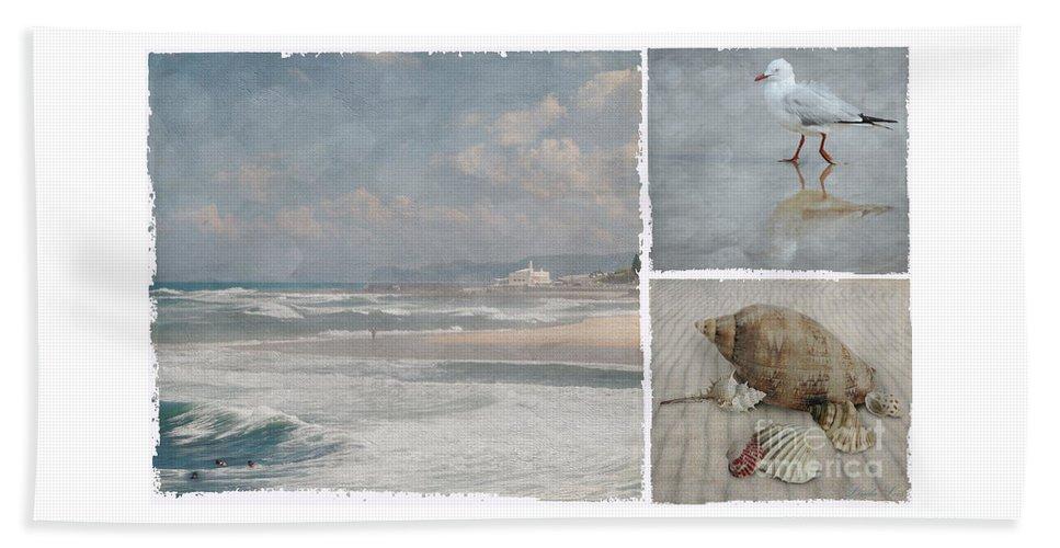 Beach Beach Towel featuring the photograph Beach Triptych 1 by Linda Lees
