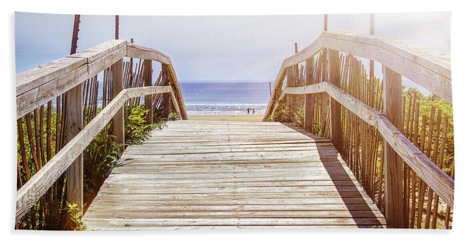 Beach Beach Towel featuring the photograph Beach View by Elena Elisseeva