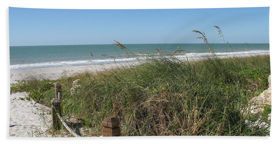 Beach Beach Towel featuring the photograph Beachaccess by Christiane Schulze Art And Photography