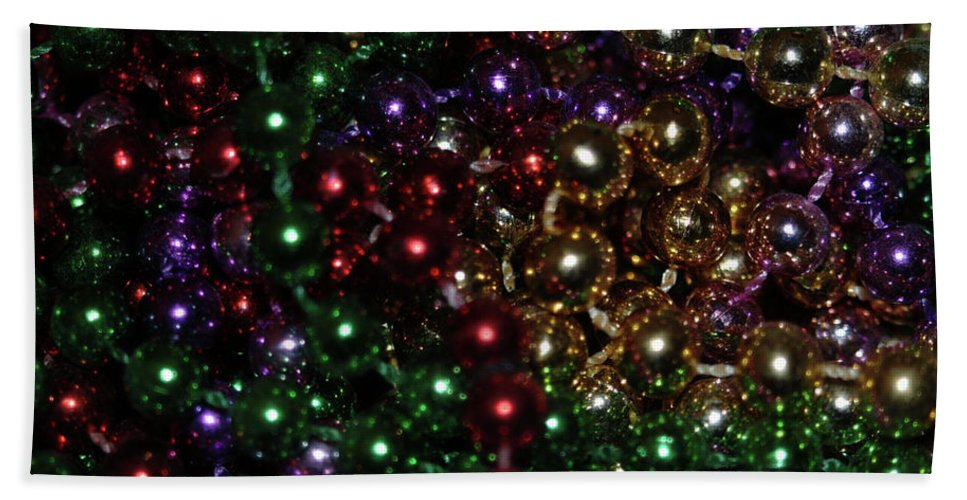 Beads Beach Towel featuring the photograph Beads by Michael Merry