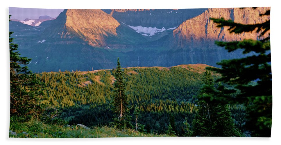 National Park Beach Towel featuring the photograph Bear Valley Glacier National Park by Ed Riche