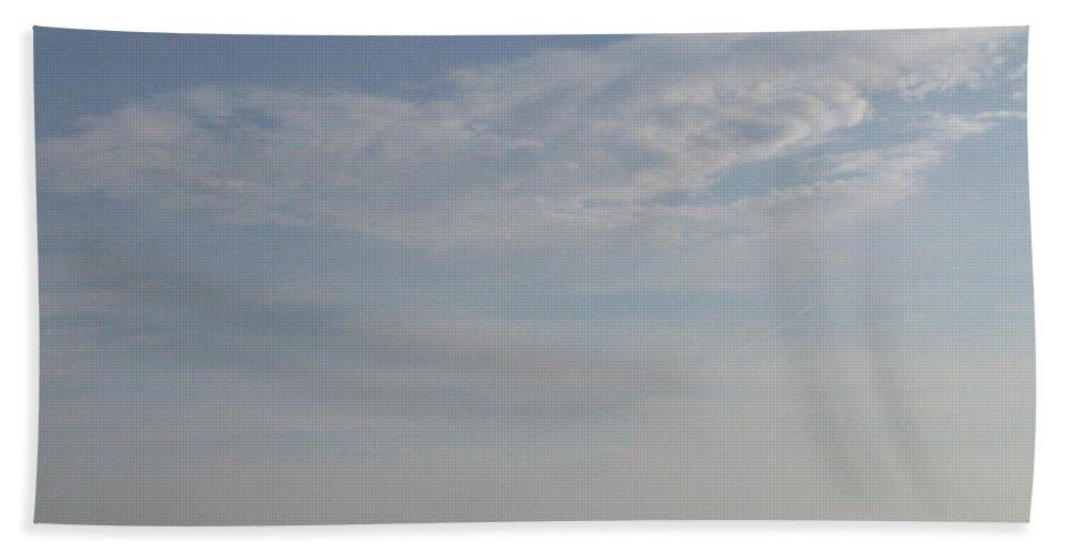 Cloud Beach Towel featuring the photograph Bearded Man Flying Cloud by Ellen Meakin