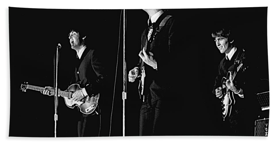 Beatles Beach Towel featuring the photograph Beatles In Concert, 1964 by Larry Mulvehill