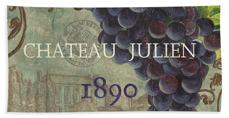 Wine Beach Towel featuring the painting Beaujolais Nouveau 2 by Debbie DeWitt