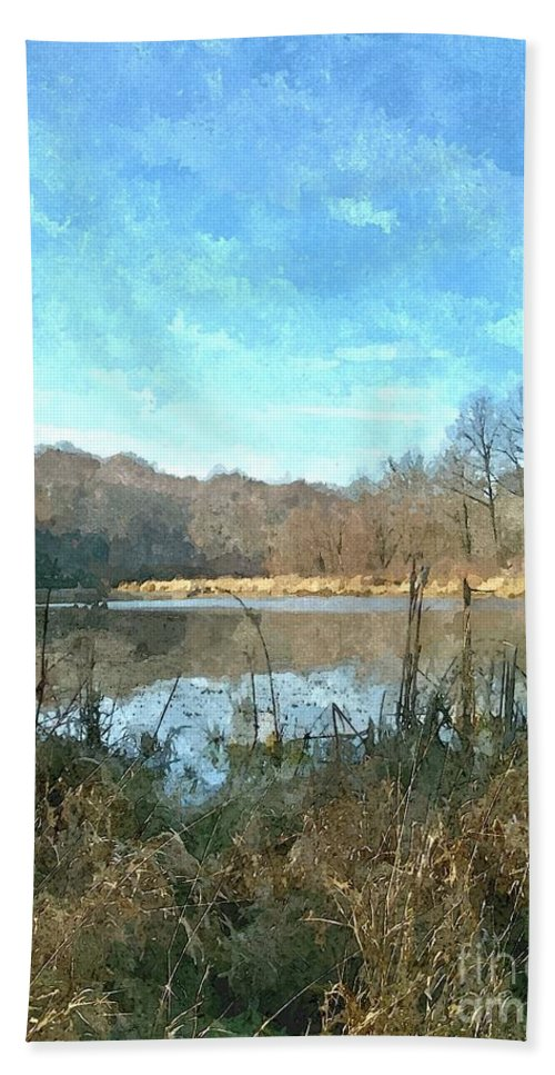 Lake Beach Towel featuring the photograph Beautiful Day 2 by Sara Raber