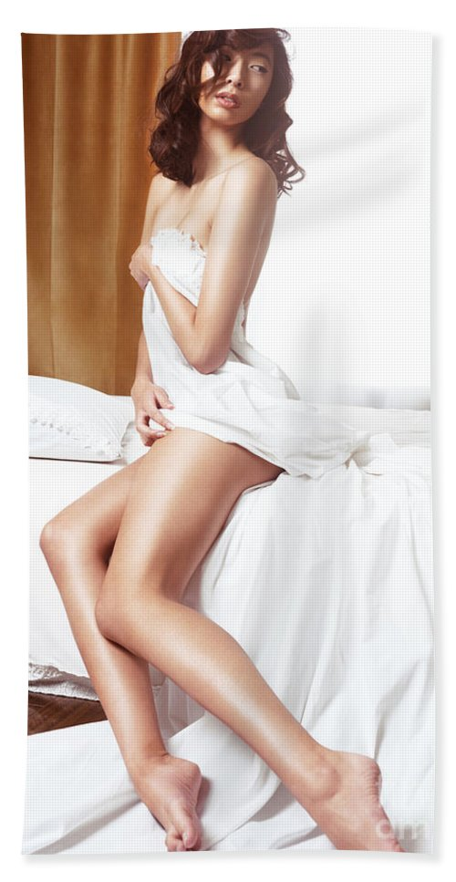Naked in a towel