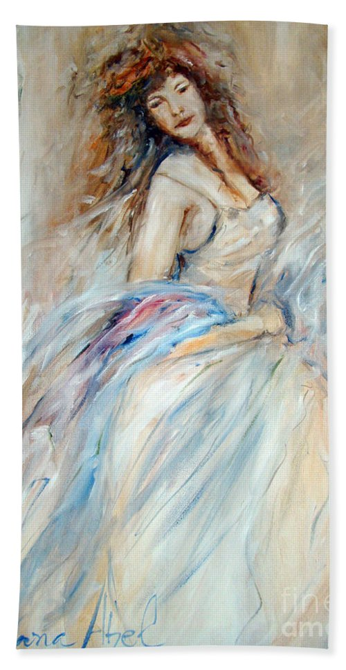 Contemporary Art Beach Towel featuring the painting Beautiful by Silvana Abel