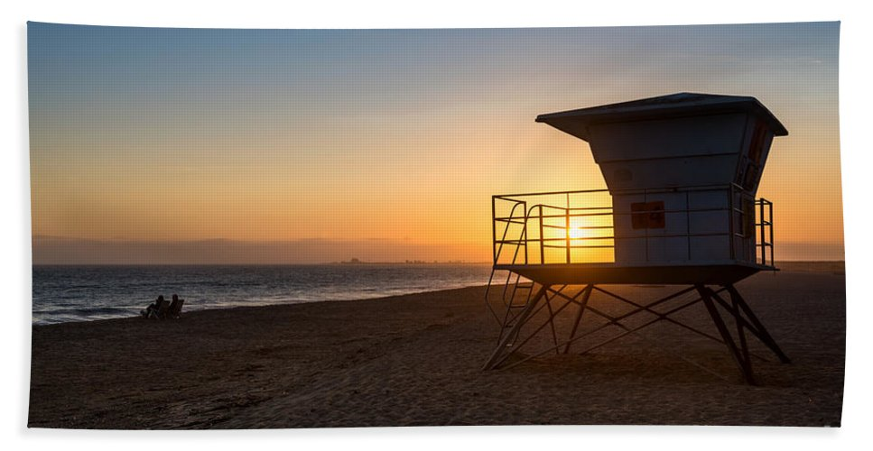 Beach Beach Towel featuring the photograph Beautiful Sunset In Point Mugu State Park In Malibu. by Jamie Pham