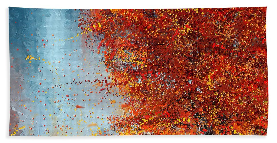 Beauty Of It Autumn Impressionism Beach Towel For Sale By Lourry