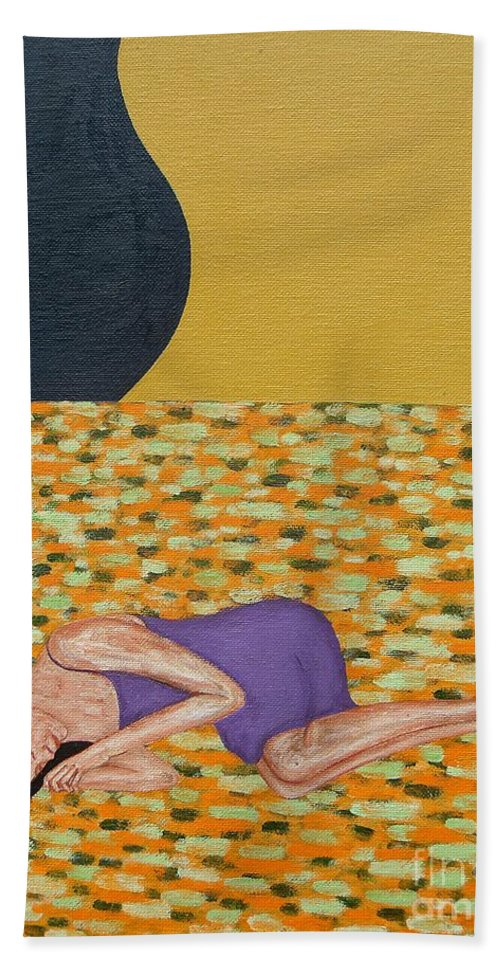 Flowers Beach Towel featuring the painting Bed Of Flowers by Patrick J Murphy