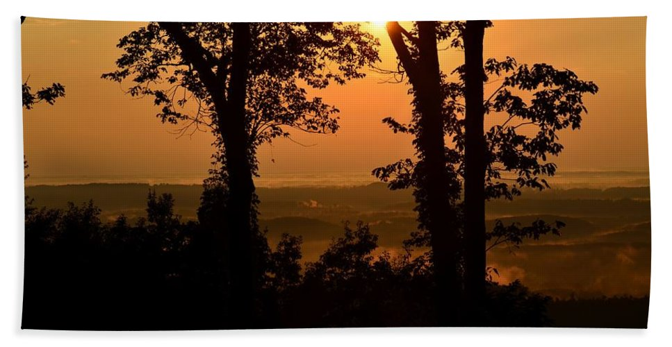 Bella Vista Sunset 2 Beach Towel featuring the photograph Bella Vista Sunset 2 by Maria Urso