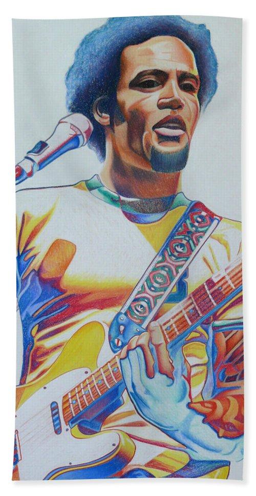 Ben Harper Beach Towel featuring the drawing Ben Harper by Joshua Morton