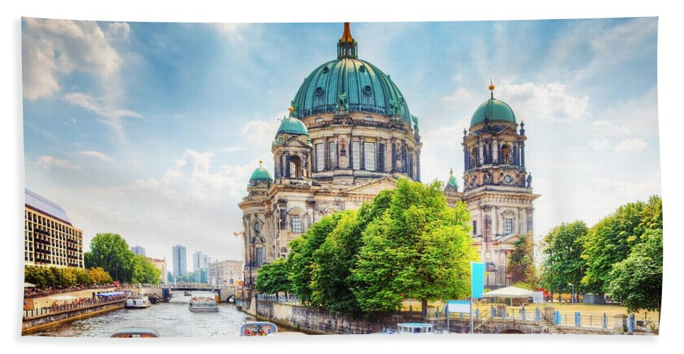Berlin Beach Towel featuring the photograph Berlin Cathedral by Michal Bednarek