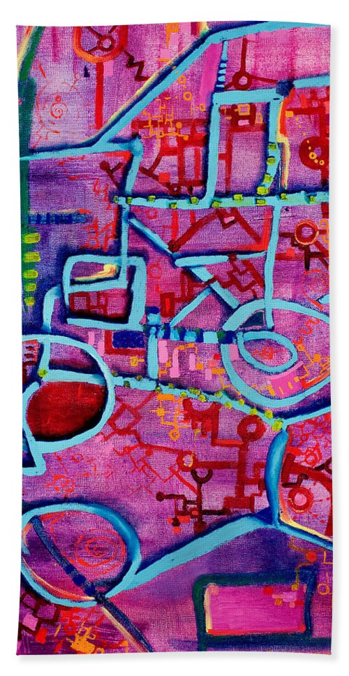 Mousetrap Beach Towel featuring the painting Better Mousetrap by Regina Valluzzi