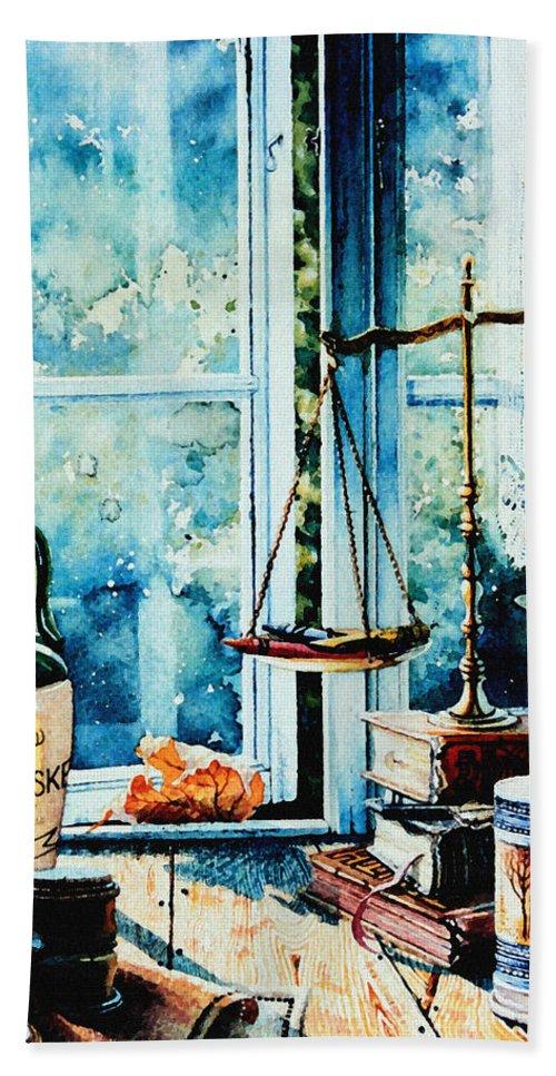 Beyond The Shadow Of Doubt Beach Towel featuring the painting Beyond The Shadow Of Doubt by Hanne Lore Koehler