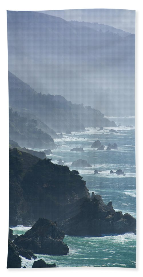 Big Sur Beach Towel featuring the photograph Big Sur 2 by Doug Matthews
