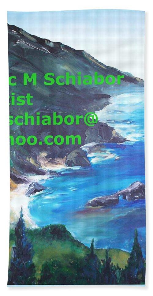 Big Sur Beach Towel featuring the painting Big Sur Califorina by Eric Schiabor