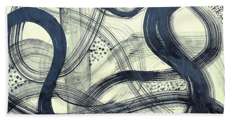 Biological Rhythms Beach Towel featuring the painting Biological Rhythms by Taikan Nishimoto