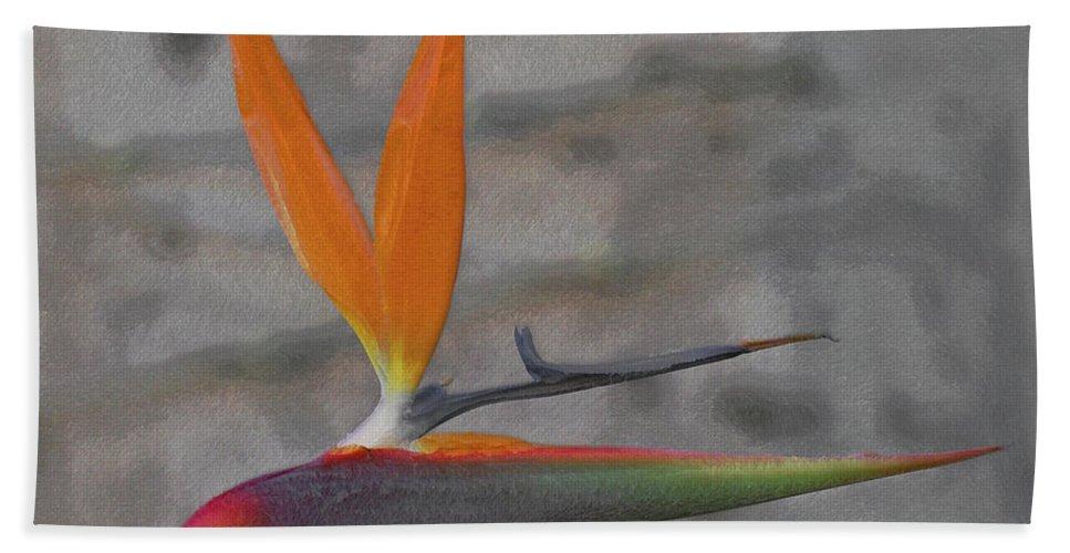 Bird Of Paradise Beach Towel featuring the digital art Bird Of Paradise by Ernie Echols