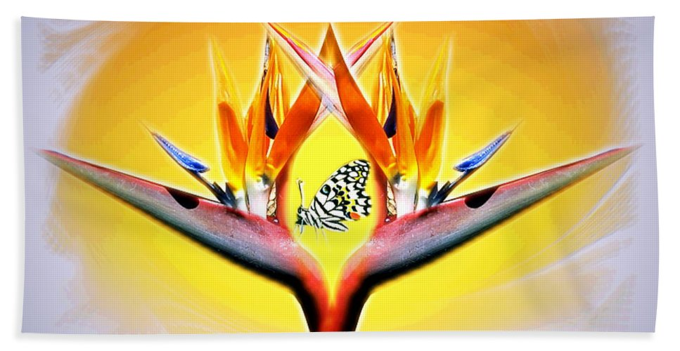Bird Of Paradise Beach Towel featuring the photograph Bird Of Paradise by Joyce Dickens