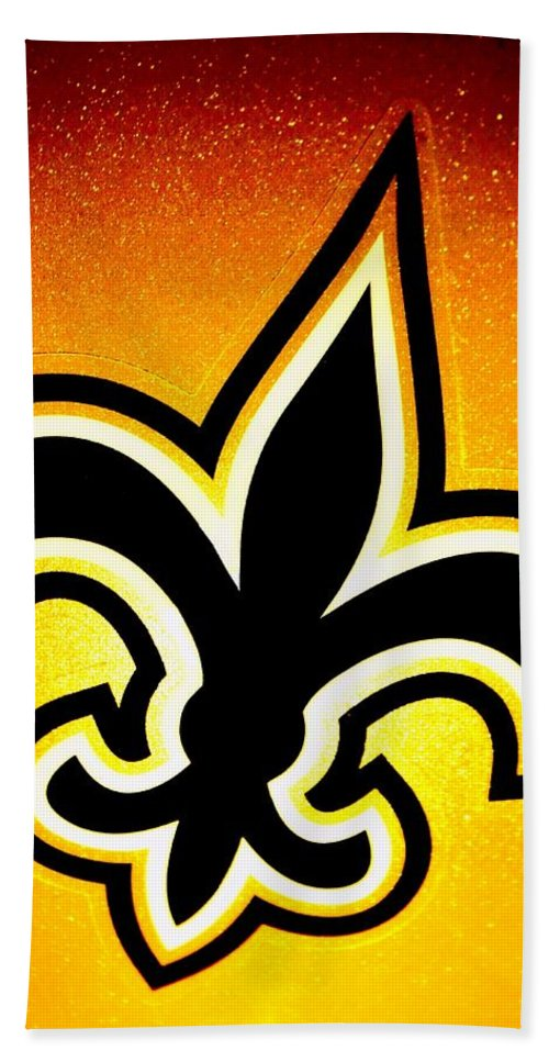 New Orleans Beach Towel featuring the photograph Black And Gold by Benjamin Yeager