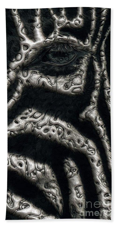 Zebra Beach Towel featuring the digital art Black Eye by Joshua Roberts