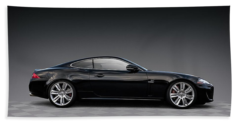 British Beach Towel featuring the digital art Black Jag by Douglas Pittman