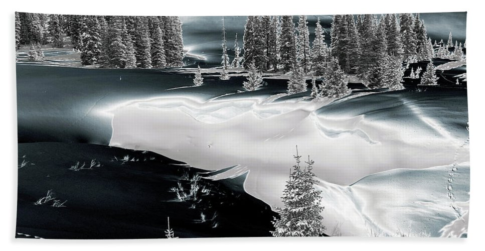 Landscape Photography Beach Towel featuring the photograph Black Metallic by Jeremy Rhoades
