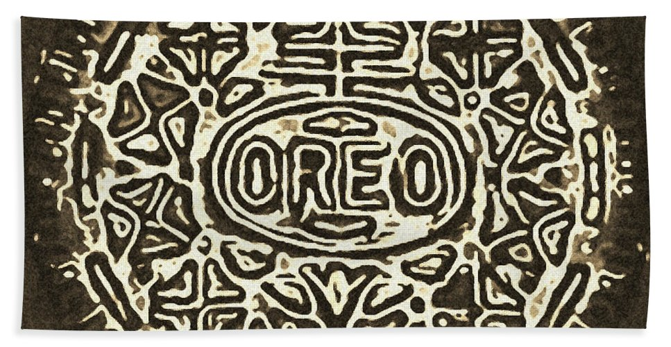Oreo Beach Towel featuring the photograph Black Sepia Oreo by Rob Hans