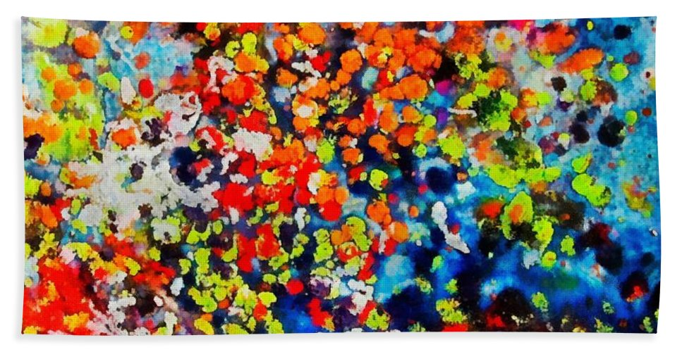 Flowers Beach Towel featuring the painting Blossoming Meadow by Dragica Micki Fortuna