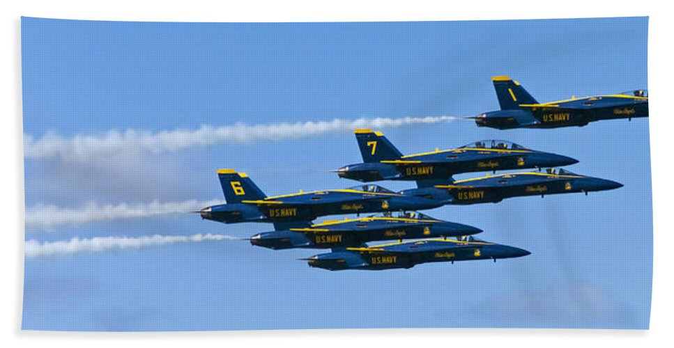Blue Angels Beach Towel featuring the photograph Blue Angels IIII by Greg Reed
