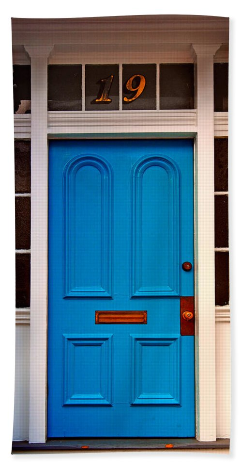 Blue Beach Towel featuring the photograph Blue Door 19 by John Cardamone