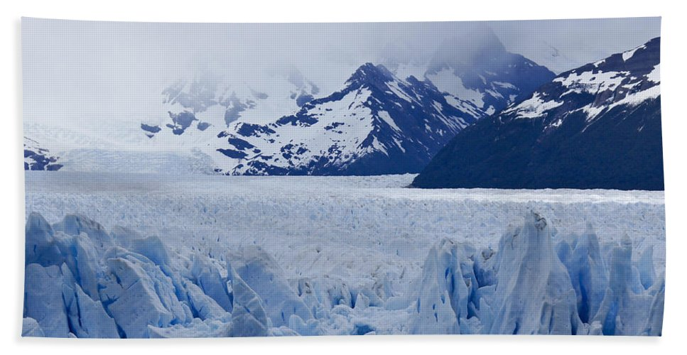 Argentina Beach Towel featuring the photograph Blue Ice by Michele Burgess